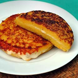 Arepas corn pancake sandwich simple easy to make cuban spanish arepas corn pancake sandwich forumfinder Image collections