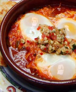 Eggs Poached In Sofrito Sauce Huevos Enchilados Simple