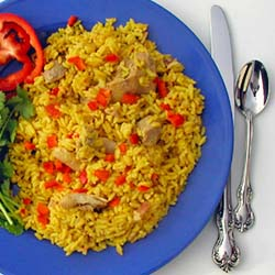 Cuban Arroz Con Pollo - Chicken with Rice